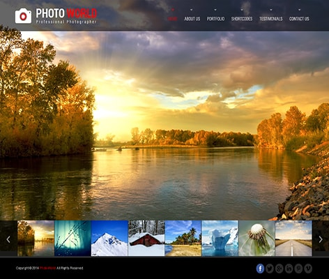 photo album WordPress theme