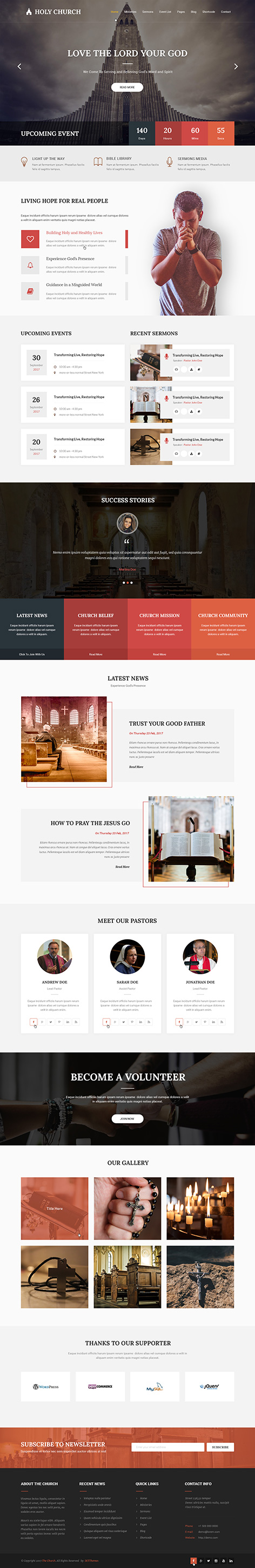 temple WordPress theme