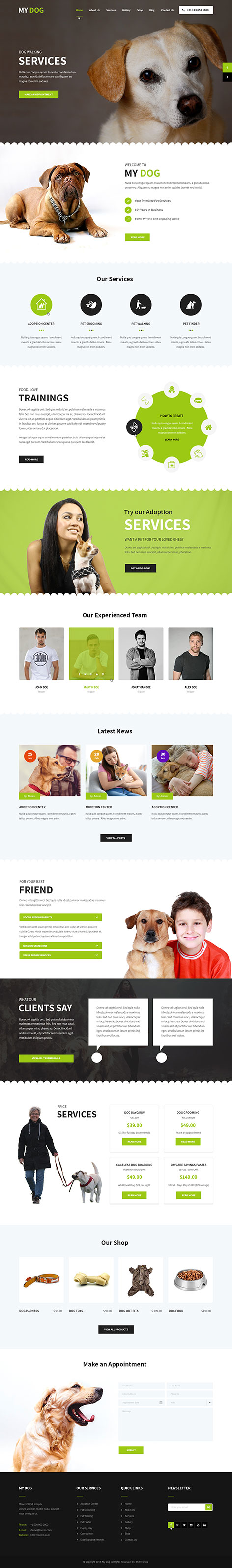 petshop WordPress theme