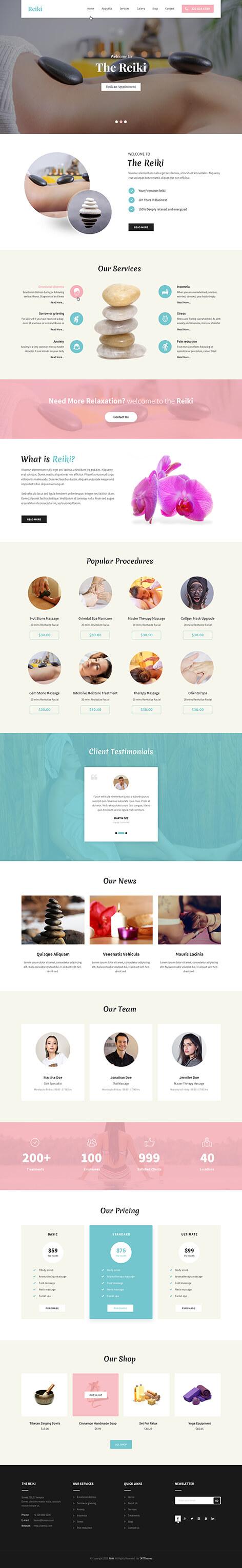 natural health WordPress theme