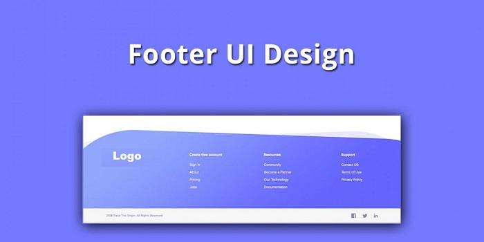 design a website footer