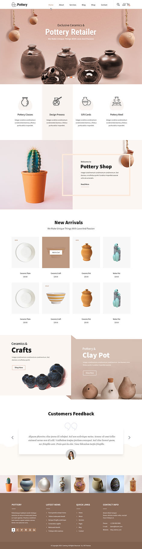 ceramics WordPress theme