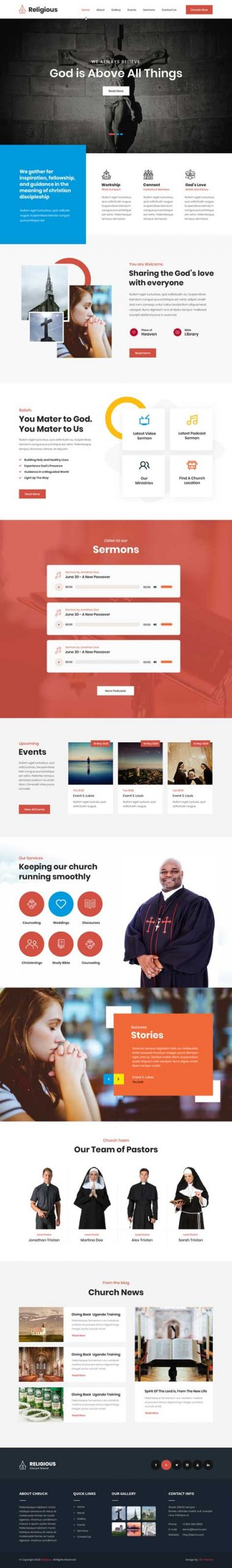 devotional WordPress theme