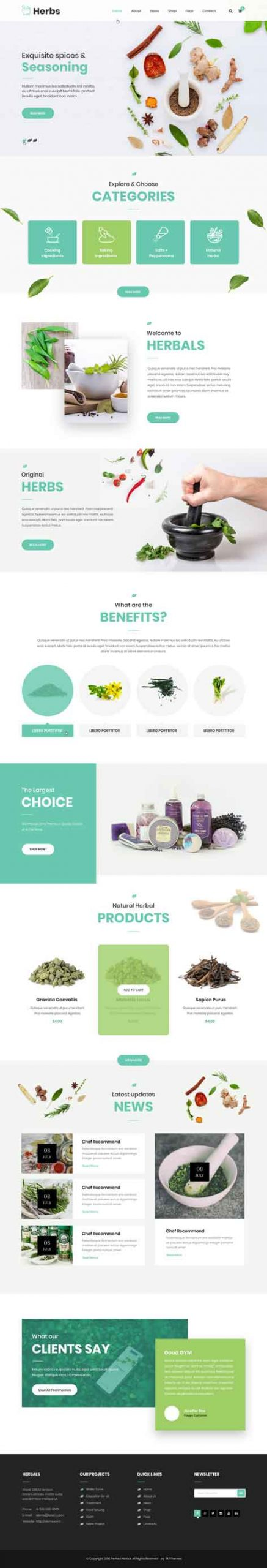 herbal store WordPress theme
