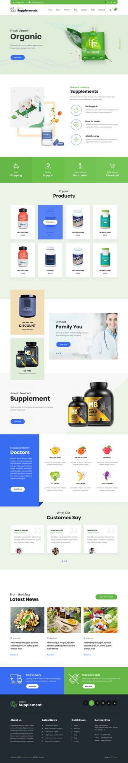 Health coach WordPress theme