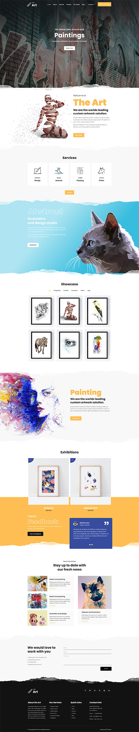artists WordPress theme