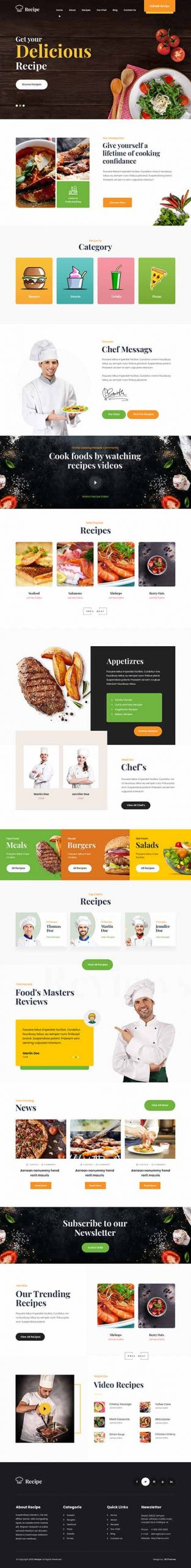 food delivery WordPress theme