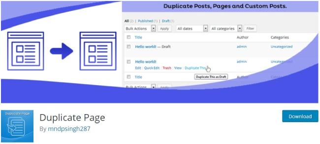 duplicate page plugin