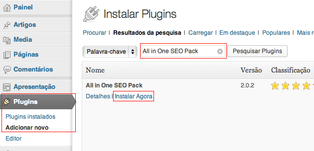 Instalar o All In One SEO