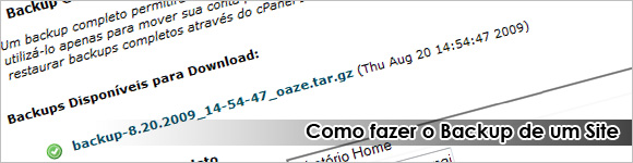 Backup de Sites