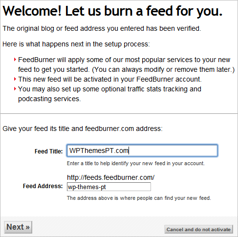 FeedBurner Tutorial