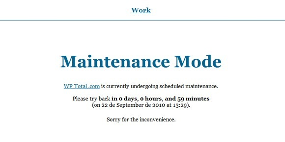 Maintenance Mode Plugin
