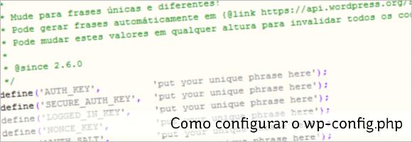 Como configurar o wp-config.php