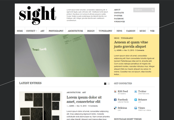 Sight WordPress Theme