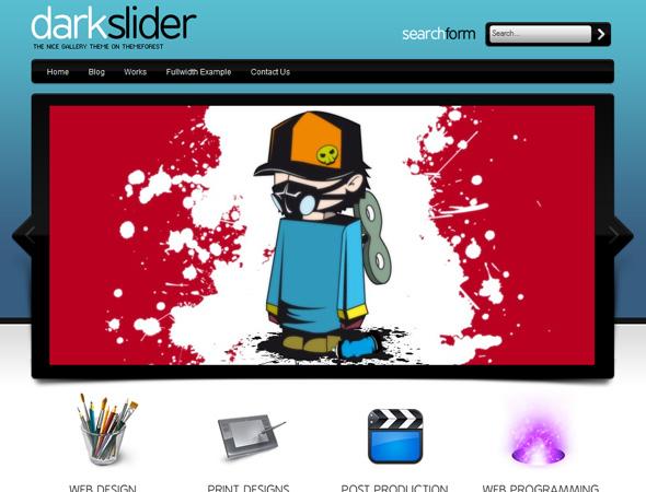 Darkslider Premium WordPress Theme 17 in 1