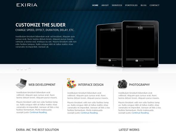 Exiria Portfolio and Business WordPress Theme