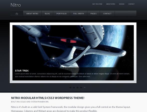 Nitro Modular HTML5 WordPress Theme