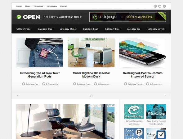 Open - Community WordPress Theme