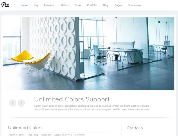 Pai - Simple and Clean Business Corporate Template