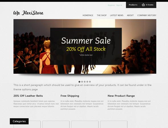 WP FlexiShop - A Versatile WP E-Commerce Theme