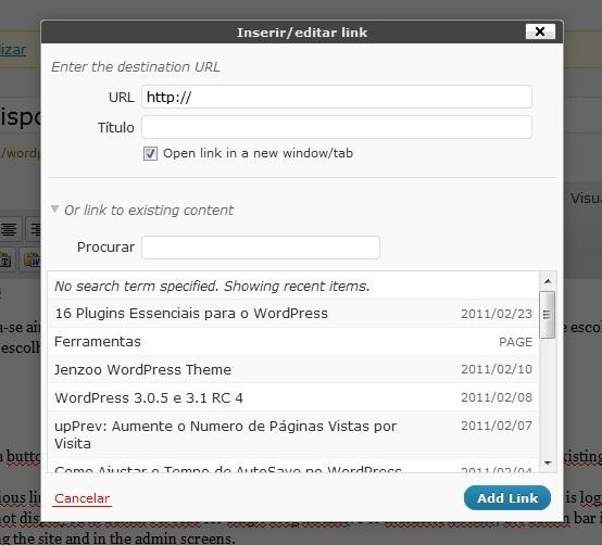 Links WordPress 3.1