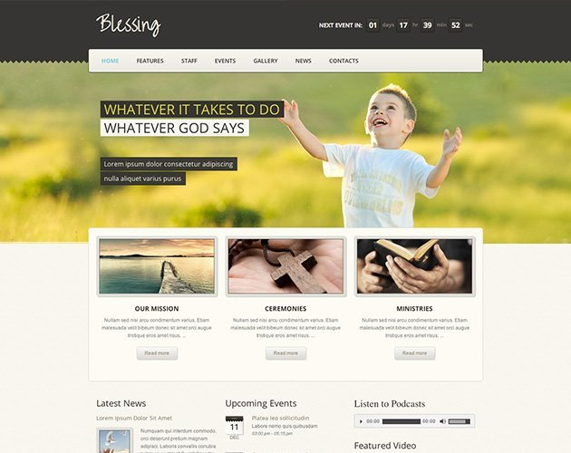Blessing Responsive WordPress Theme