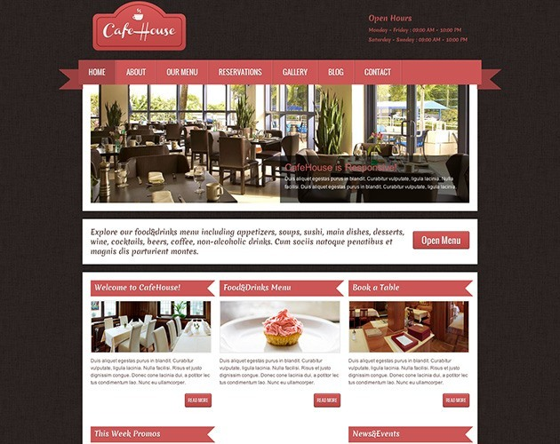 CafeHouse - Restaurant WordPress Theme
