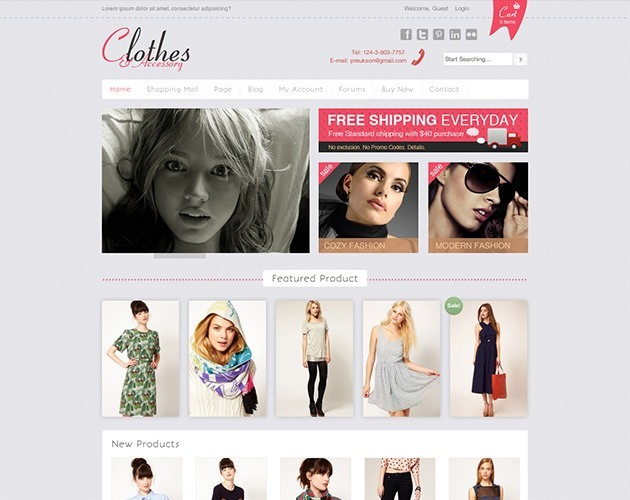 Clothes & Accessory WPTheme