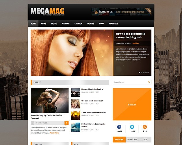 MEGAMAG - Blog/Magazine Theme