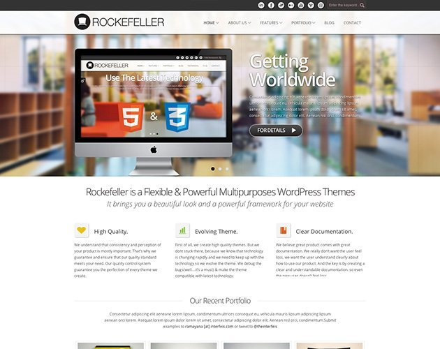 Rockefeller - Flexible WP Theme
