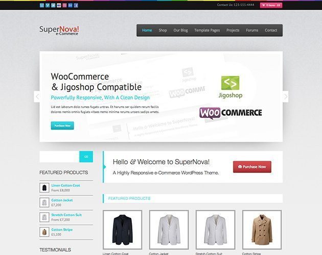 SuperNova - e-Commerce