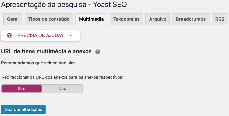 Yoast SEO - Media URLs