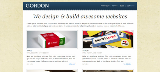 Gordon - WordPress Blog / Portfolio