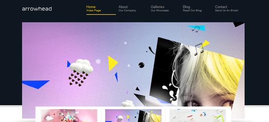 WordPress Arrowhead Theme