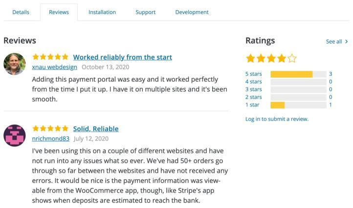 avis sur WooCommerce Payments