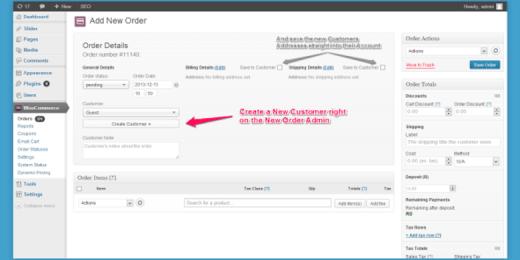 Create User On Order
