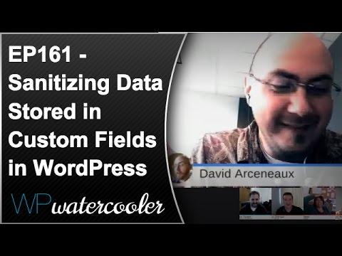 Ep161 - sanitizing data stored in custom fields in wordpress 1