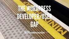 YouTube EP339 Minding the gap The WordPress developer user gap