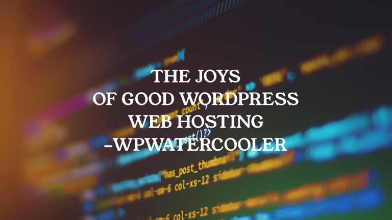 YouTube EP341 The Joys of good WordPress web hosting