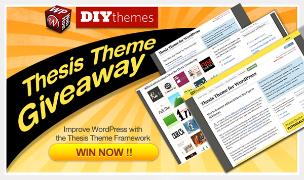 Tweet and Win Thesis Theme Giveaway by WPWebHost