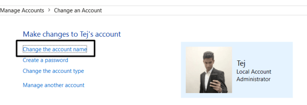 Account Name Local