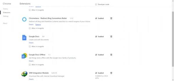Cortana Chrome Extension