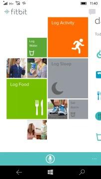 Fitbit main screen
