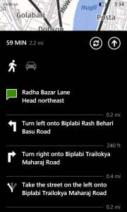 Nokia maps Directions