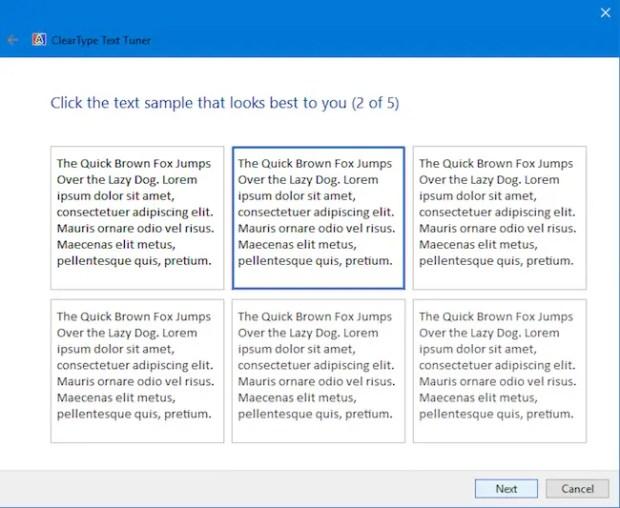 Tune Font on Windows 10 PC