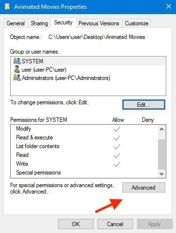 Ownership Files Folders Windows