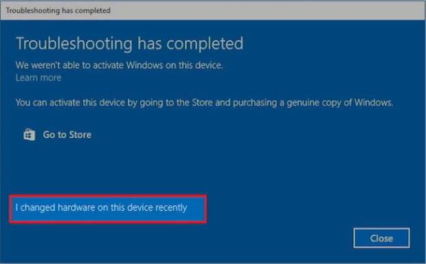 How to Reactivate Windows 10 after changing Hardware