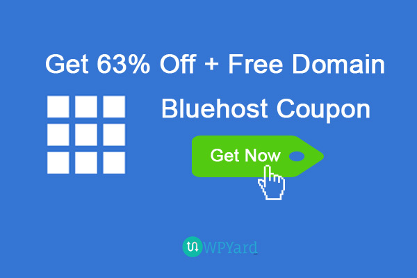 BlueHost Coupon – Get 63% off + Free Domain