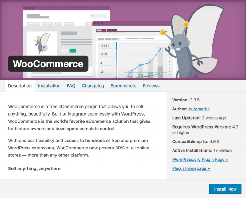 Install the WooCommerce plugin