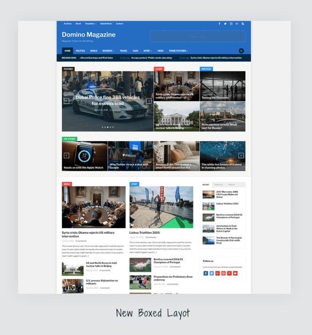 Screenshot of one of the best WordPress magazine themes